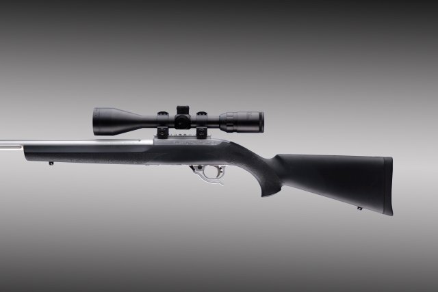 "10-22 .920"" Diameter Barrel Black Rubber OverMolded Stock"