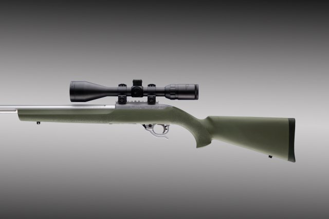 "10-22 .920"" Diameter Barrel OD Green Rubber OverMolded Stock"