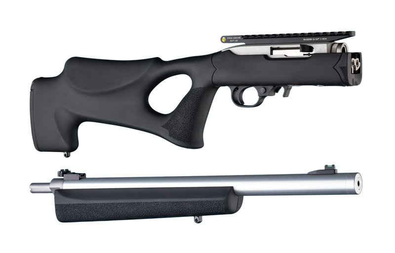 "10-22 Takedown Thumbhole .920"" Diameter Barrel Black Rubber Over"