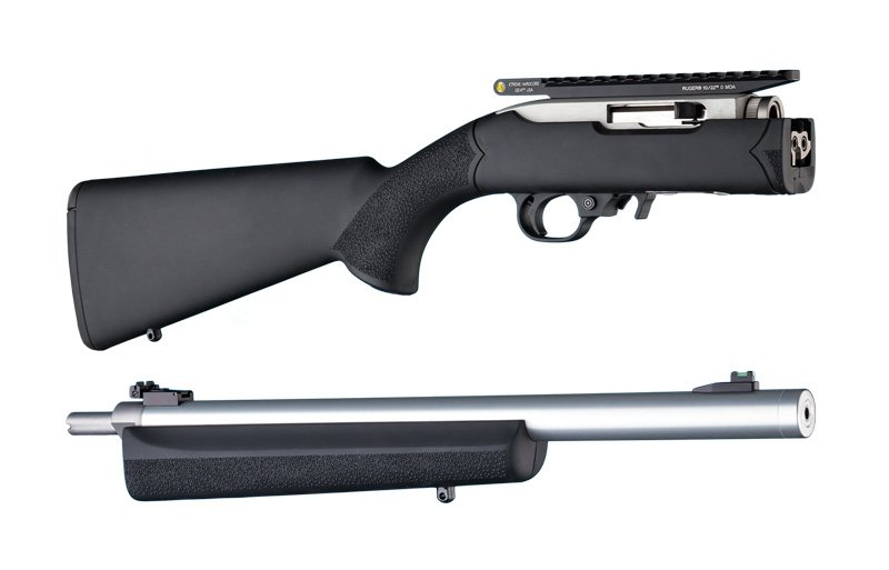 10-22 Takedown .920 Diameter Barrel BlackRubber OverMolded Stock