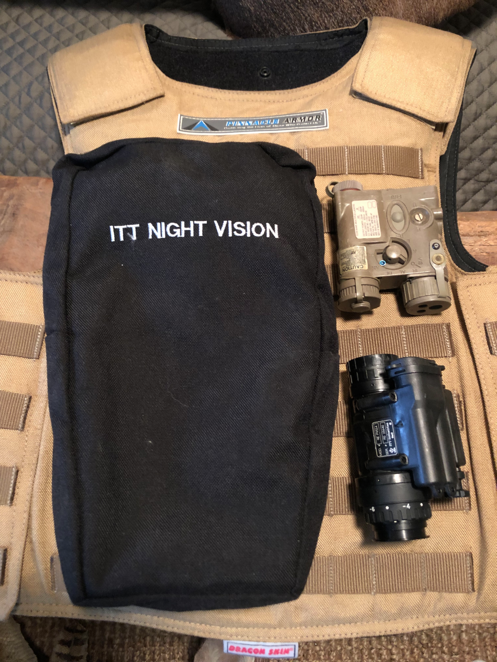 ITT AN/PVS-14 Monocular Autogated Night Vision Device Used