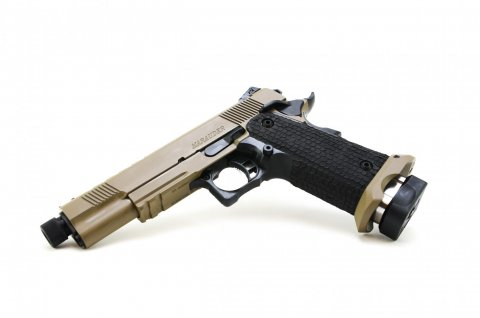 STI 2011 Marauder Black / Tan Threaded BBL