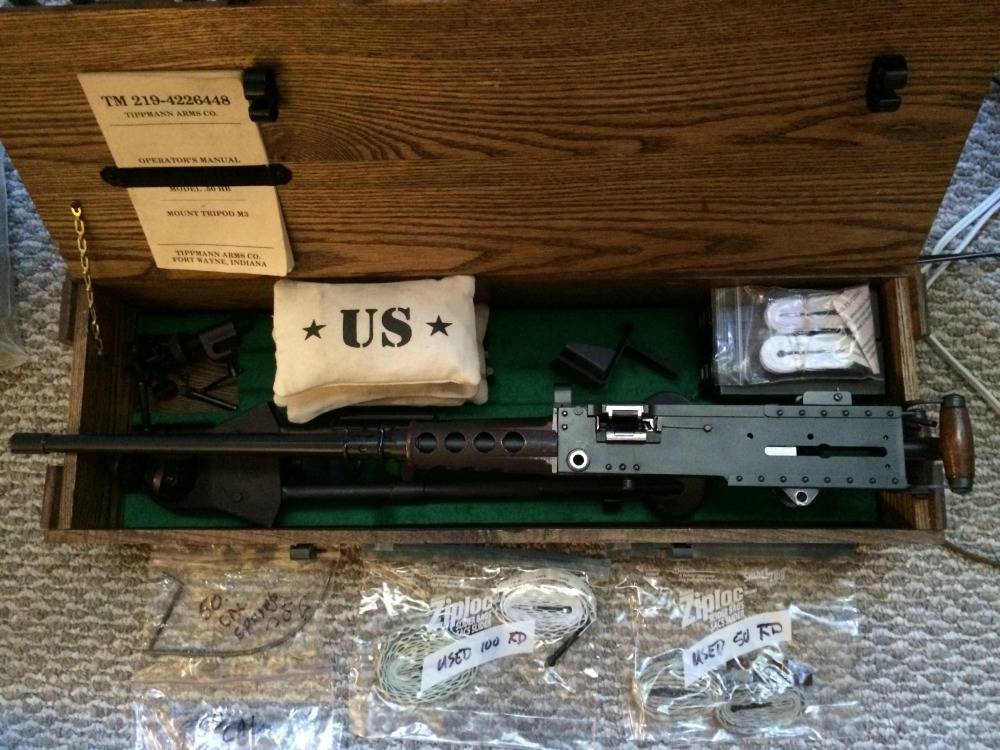 Tippmann Arms Company M2HB Belt Fed Machine Gun Used